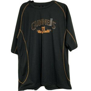 Guiness Gray Spell Out Short Sleeves Shirt XXL